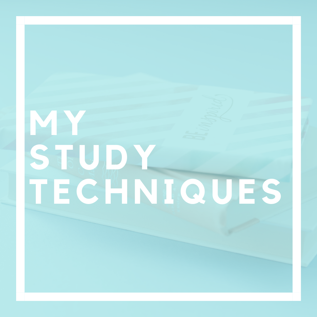 8 Study Techniques I Have Used | Are you looking for new study techniques? Click through to check out 8 study techniques that I have used to succeed in college and have a thriving life outside of my classes.