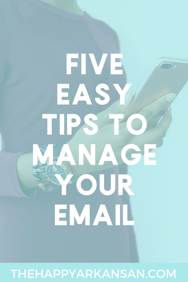 Tackle Your Inbox: 5 Easy Tips To Manage Your Email | Do you want to tackle your inbox? Do you crave Inbox Zero? Check out this awesome post so that you can tackle your inbox before it tackles you.
