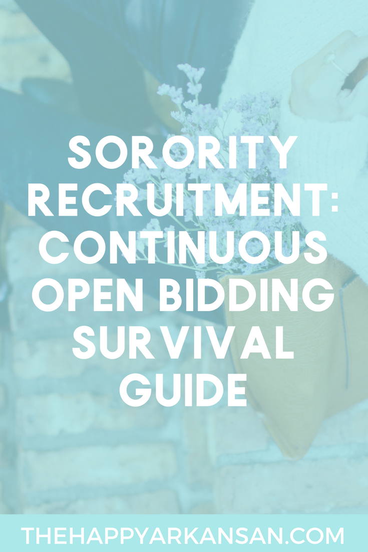 Continuous Open Bidding Survival Guide | Click through for my comprehensive guide to navigating and conquering continuous open bidding for sorority recruitment in college.