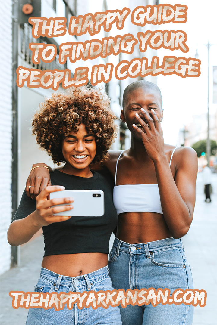 The Happy Guide To Finding Your People In College | College is stressful, but it can be even more stressful when you feel all alone. Click through to the blog to find out all about my guide to finding your people in college. #CollegeLife #CollegeAdvice #College