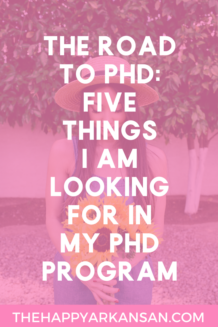 The Road To Ph.D.: 5 Things I Am Looking For In My Ph.D. Program | Picking a Ph.D. program can be very difficult. There are a lot of questions about the program that you have to ask because you are potentially devoting years of your life to a program. Click through to find out what I am looking for in my Ph.D. program as well as a free guide featuring 20 questions to think about when picking a graduate program.