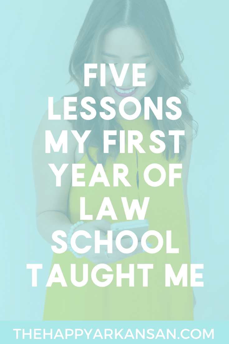 Five Lessons My First Year Of Law School Taught Me | Law school can be difficult. Click through for five lessons that a 2nd year law student learned about professors, grades, & more.