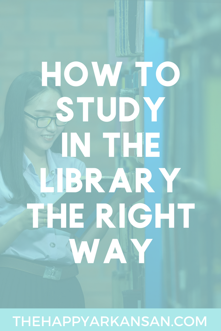How To Effectively Study In A Library | Click through to learn how to effectively study in a library by learning what to bring, where to study, and why the library might not be the most productive place to study.