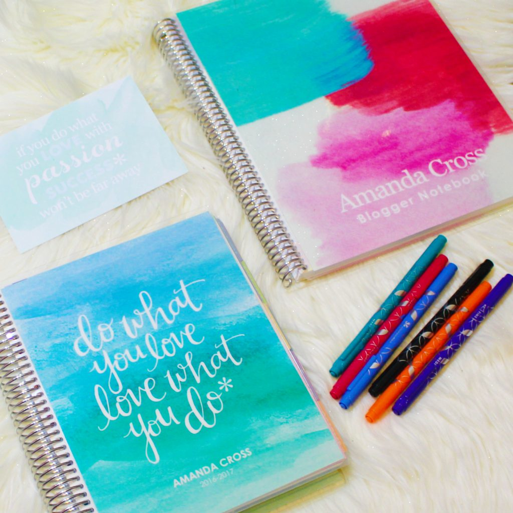 Erin Condren notebooks, planners, and pens.