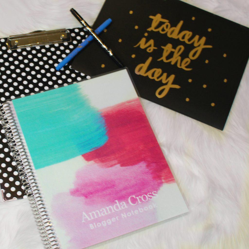 Erin Condren notebooks and pens.