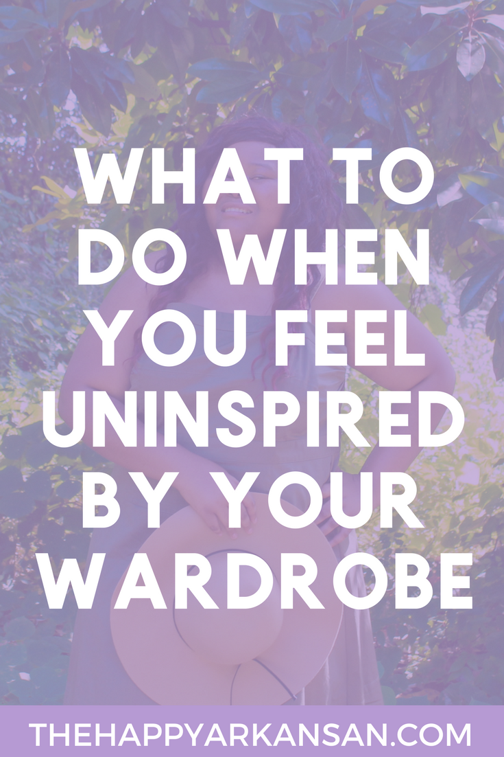 What To Do When You Feel Uninspired By Your Wardrobe | We all have those days. The time when we ransack our entire room only to be disappointed by the choices in our closet. Today, on the blog, I am sharing my best tips for what to do when you feel uninspired by the clothes in your closet!