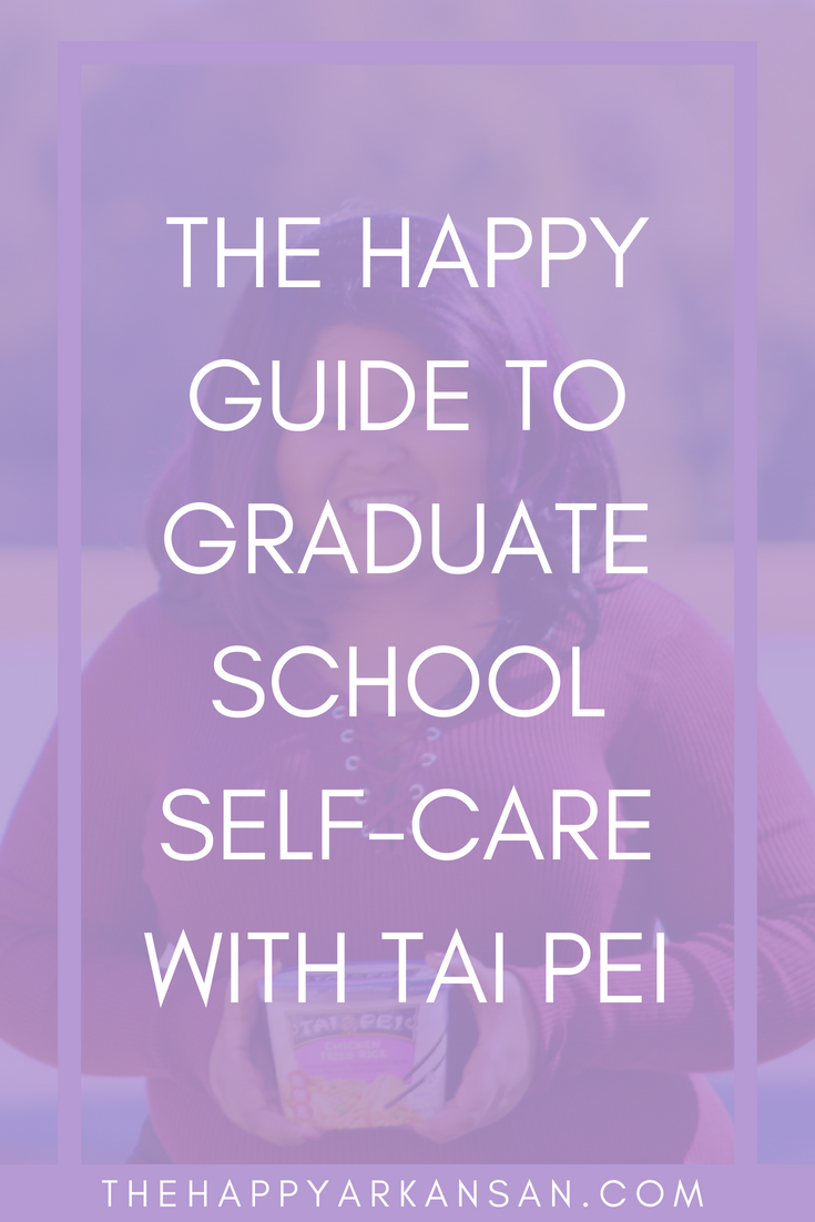 AD: The Happy Guide To Graduate School Self-Care With Tai Pei | Graduate school is rough, but it doesn't have to be. Today I have partnered with Tai Pei to discuss seven tips for taking care of yourself, even in graduate school. Click through for a post all about graduate school self-care. #TaiPeiFrozenFood #IC