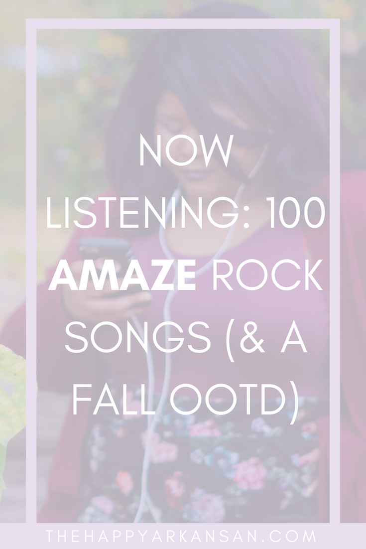 Music Monday: 100+ Awesome Rock Songs (& An OOTD) | Today on the blog I am sharing a cute fall outfit and makeup along with 100+ rock songs that I adore and I hope you will too!