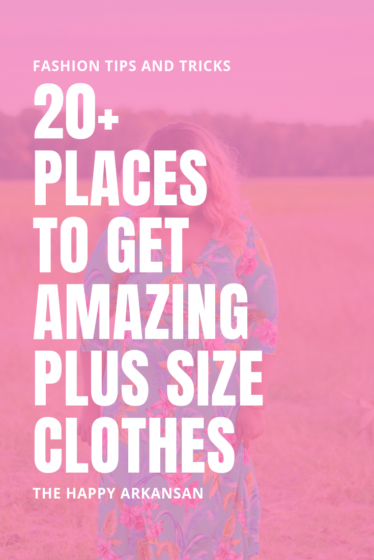20+ Places To Get Amazing Plus Size Clothes | Are you a curvy babe? Do you want to get clothes that don't make you look like a grandma? Check out my post featuring 18 places to get amazing plus size clothes so you can feel confident no matter how much meat you have on your bones! #PlusSizeClothes #CurvyBlogger #CurvyClothes #PlusSizeBlogger