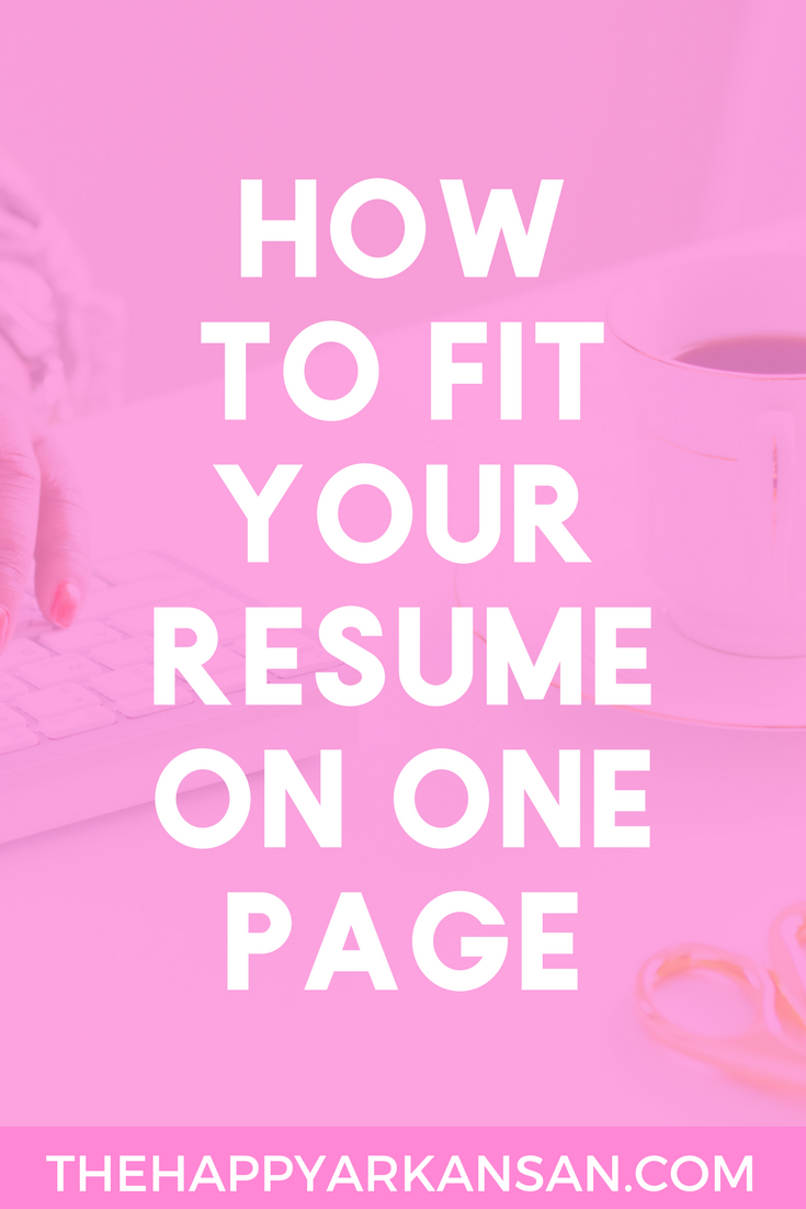 How To Fit Your Resume On One Page | Creating a one page resume can be difficult, but it is not impossible. Click through for my five tips on creating the one page resume that will land you the job of your dreams and showcase your best relevant experience. #JobSearch #Resume #Career #CareerAdvice