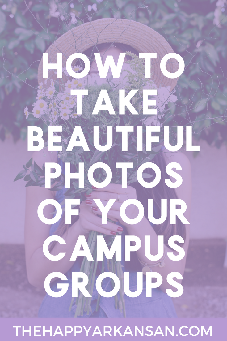 How To Take Beautiful Photos Of Your Campus Groups | Taking a good group photo can be a huge undertaking. Check out today's blog post that will help you take better group photos of your #sorority or campus group/organization.