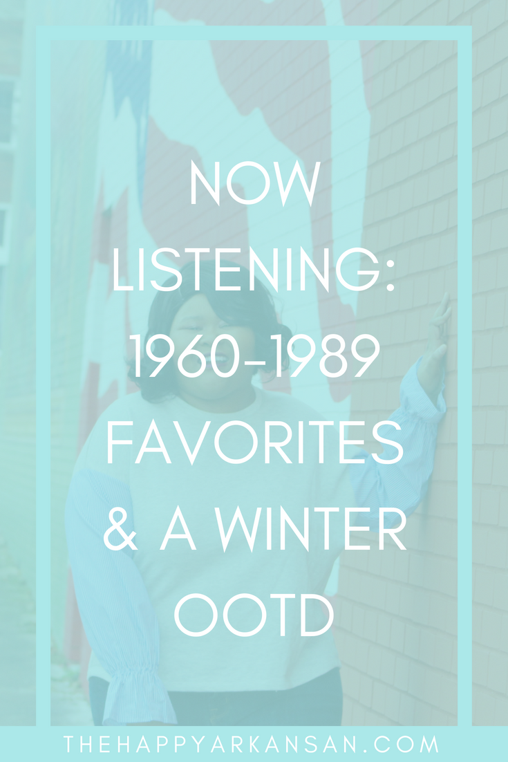 Music Monday: 1960-1989 Favorites & An OOTD | Click through to get a playlist of some of my all-time favorite songs from 1960-1989, plus get the deets on the cutest mixed media shirt you will ever see.