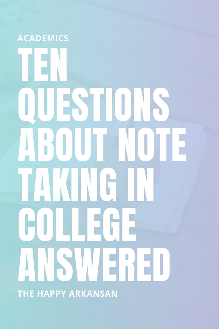 10 Questions About Note Taking In College Answered | Have a question about note taking in college? Well, I have hopefully answered all your most pressing questions in this note taking answer session. I am chatting about things like typing or handwriting your notes, color coding your notes, organizing your notes, and so much more.
