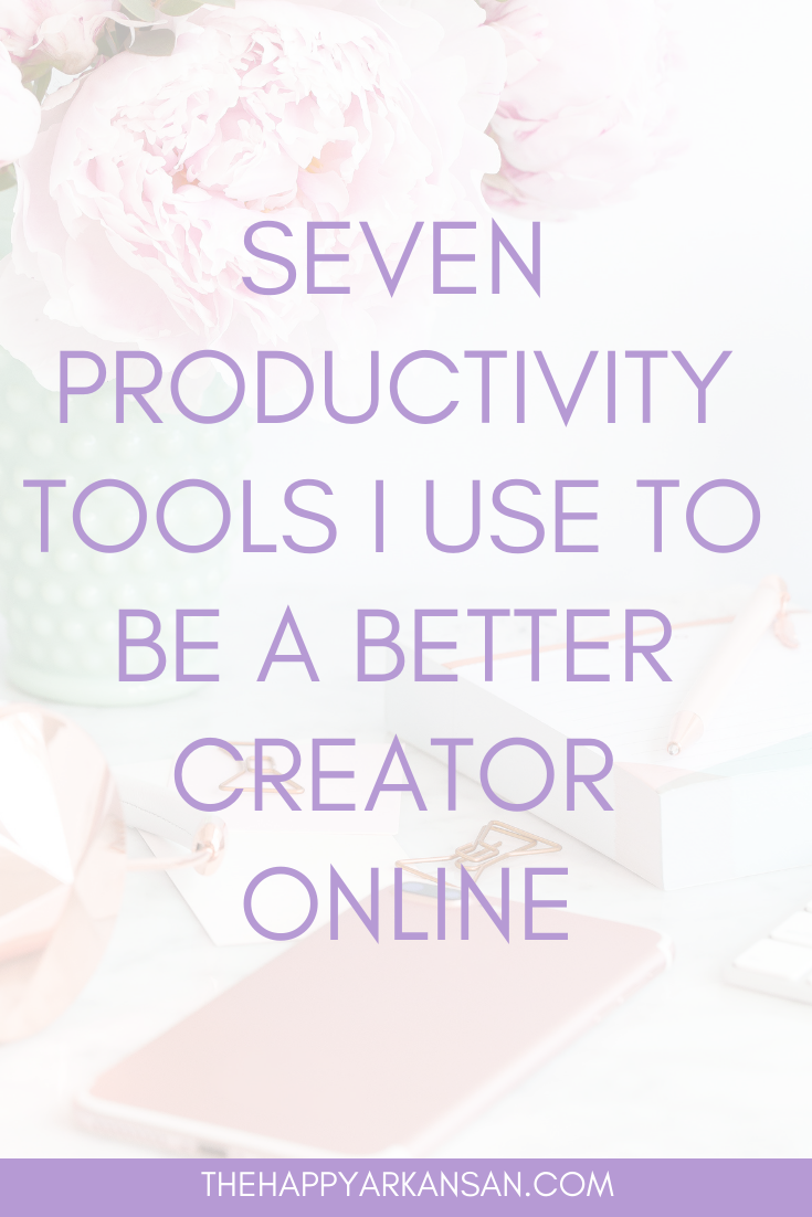 7 Productivity Tools I Use To Be A Better Creator Online | Are you looking to be more productive this year? Check out my list of the seven tools that help me become my most productive self as a freelancer and online creator. #Productivity #Planning #GoalSetting #GoalDigger