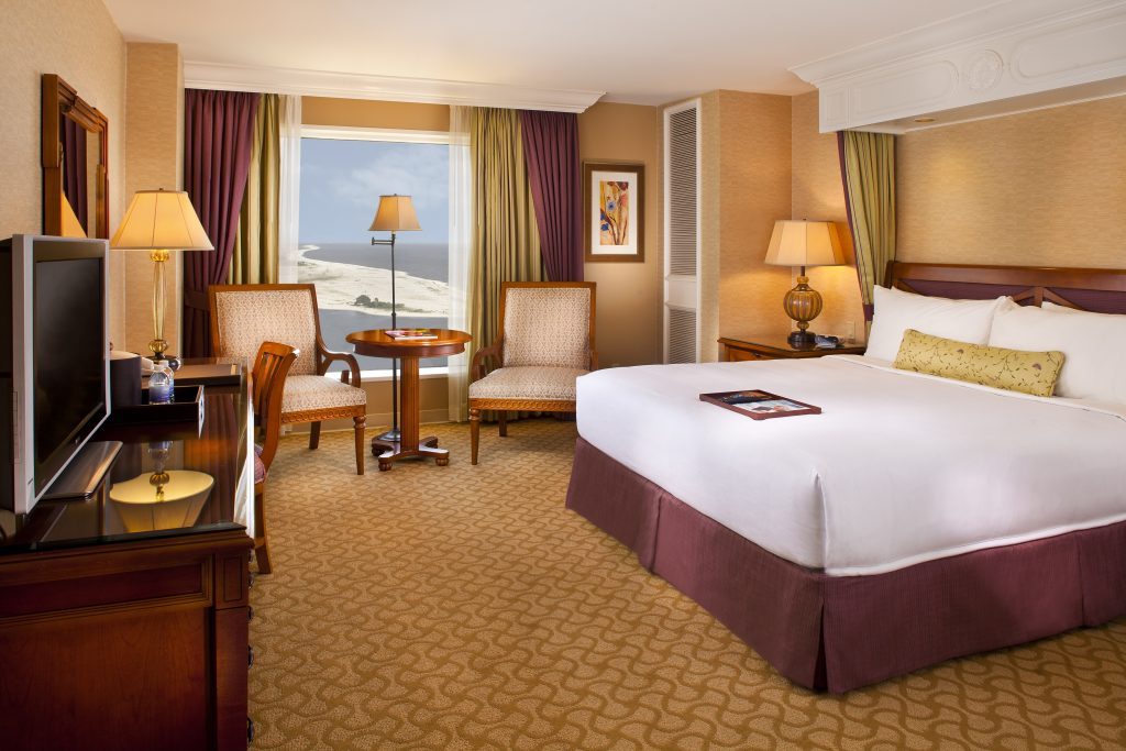 A look inside a Beau Rivage hotel room.