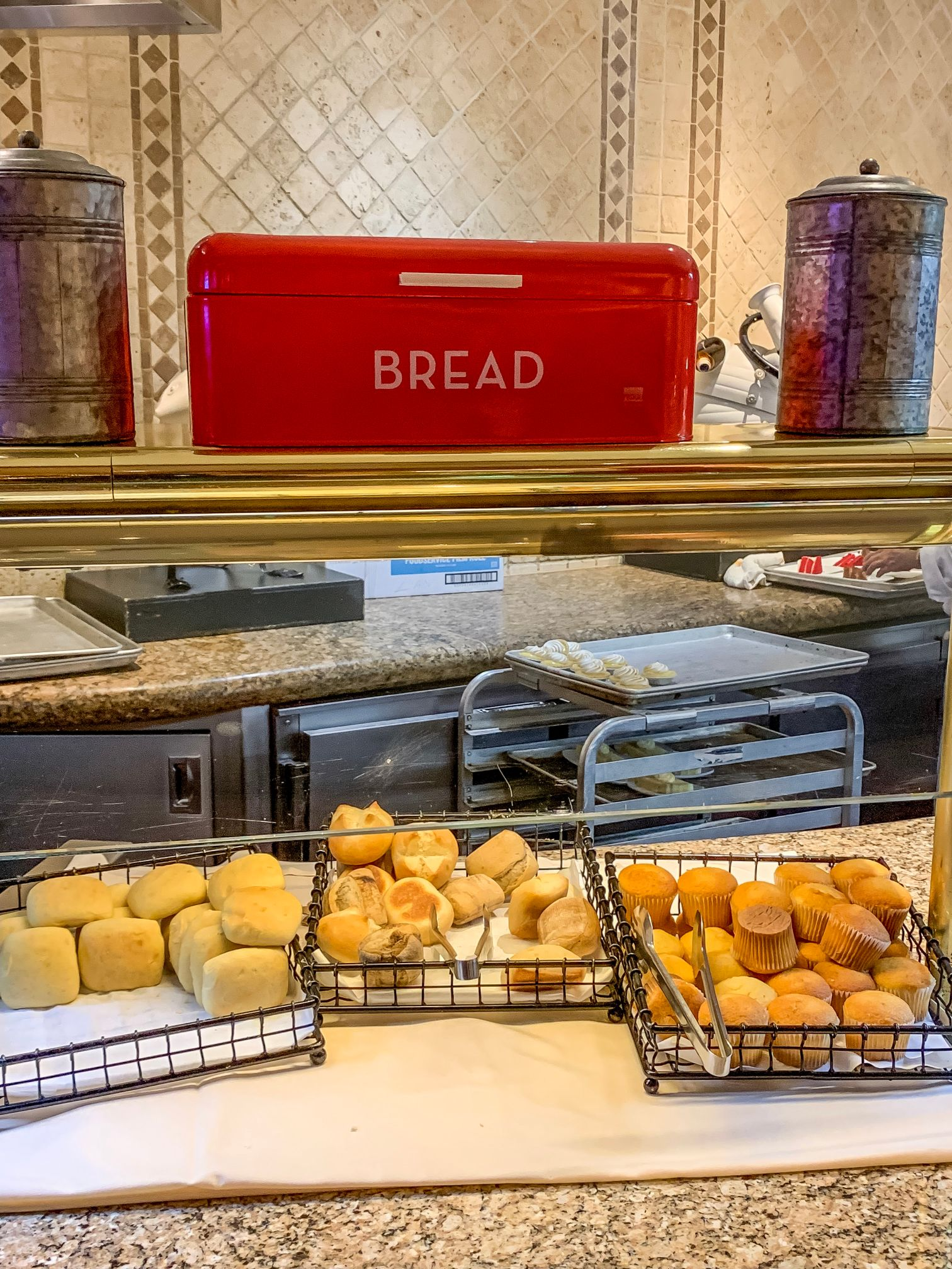 An image of the bread station at the Beau Rivage buffet