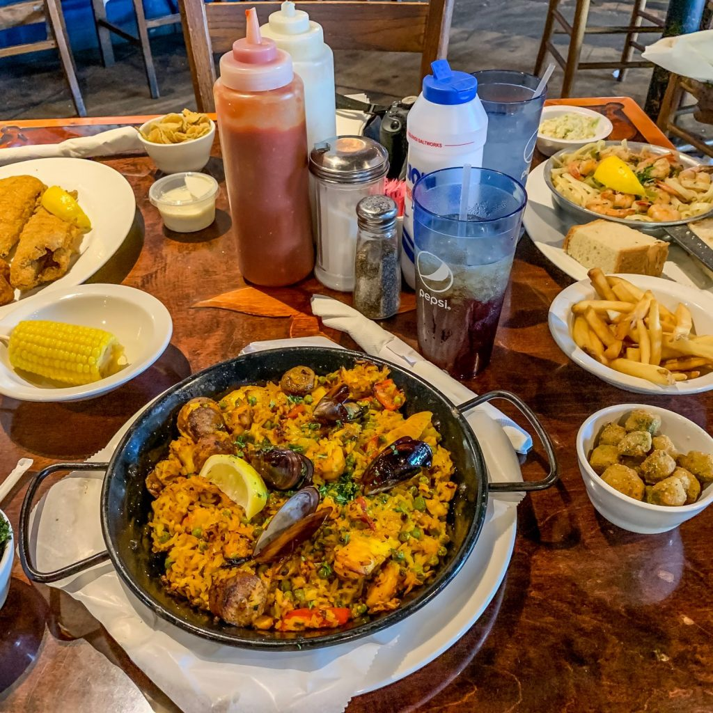 A table full of food from The Fish Market | Southside