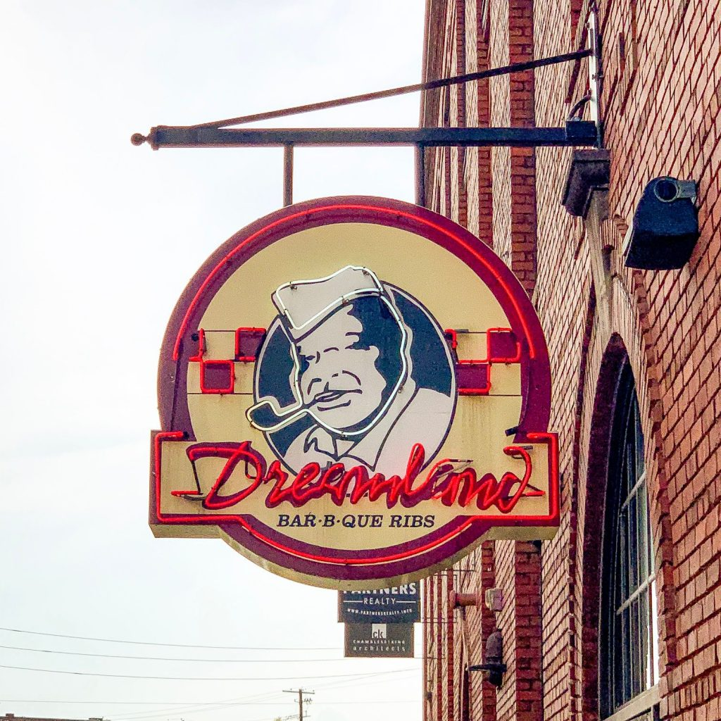 The Dreamland Barbecue Sign
