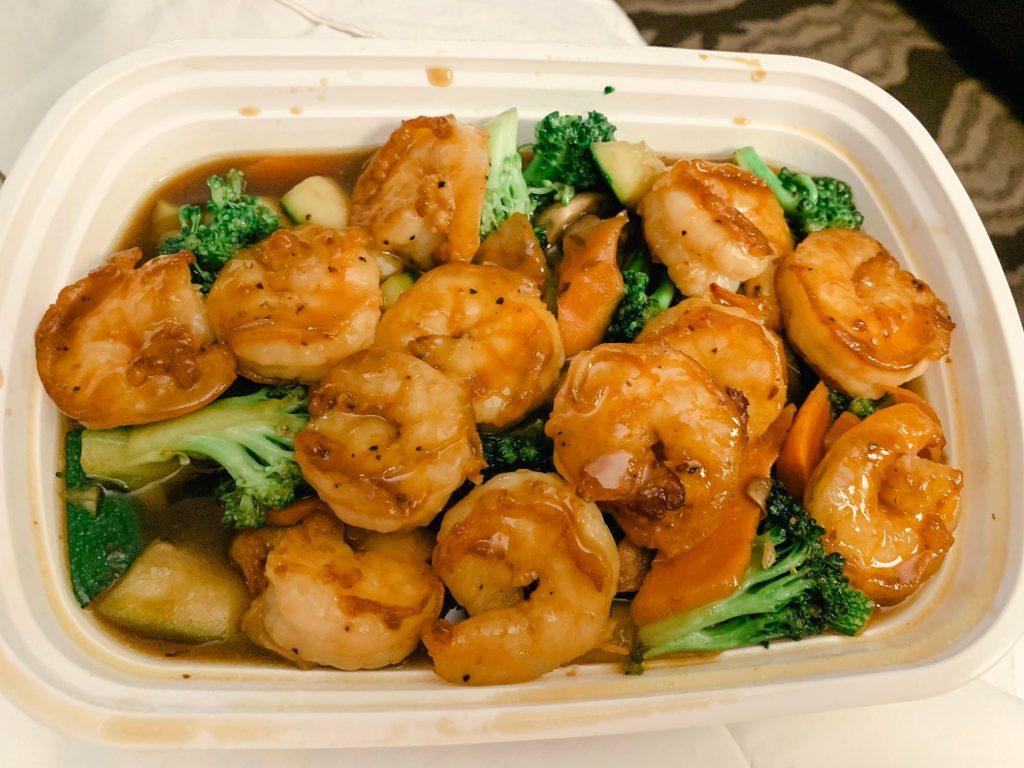 Shrimp and broccoli I got from Grubhub