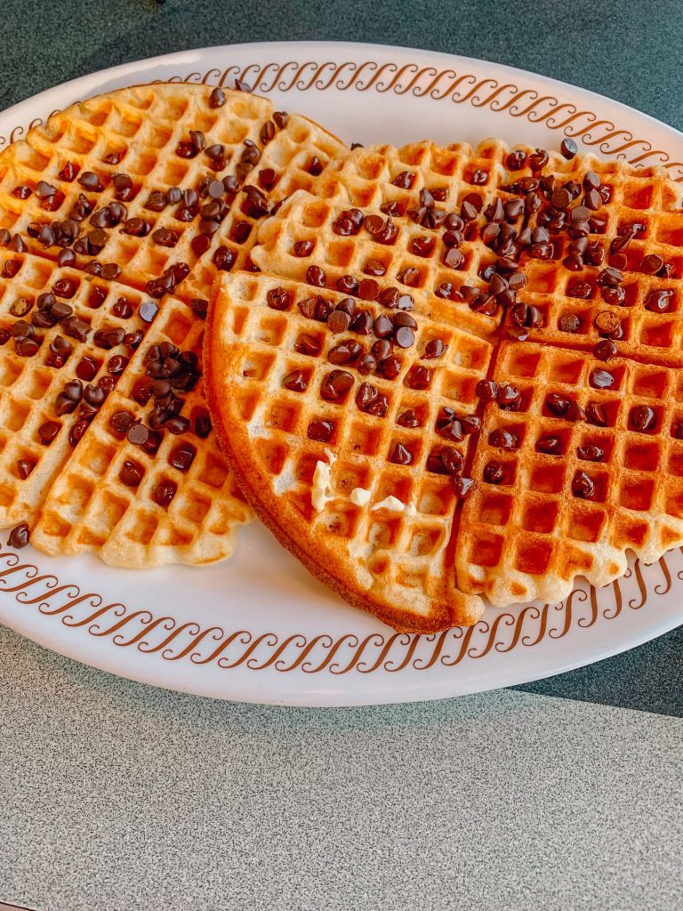 Chocolate chip waffles at Waffle House