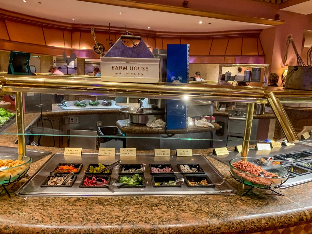 Salad bar at Beau Rivage's buffet