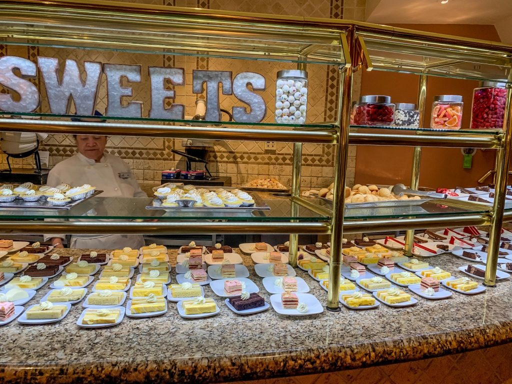 The sweets counter at the Beau Rivage buffet