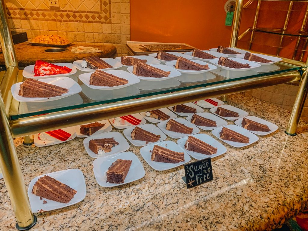 Sugar-free desserts at Beau Rivage's buffet