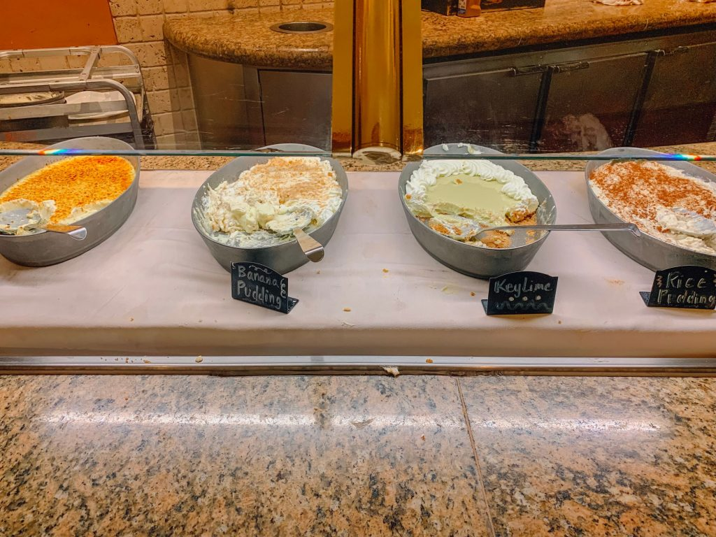 Miscellaneous desserts at Beau Rivage's buffet